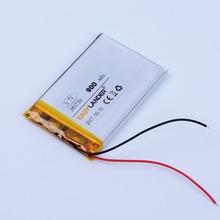 383759 3.7V 900mAh Rechargeable Li-Polymer Li ion Battery For Bluetooth Speaker GPS Tracker DVR mp3 mp4 mp5 PDA phone 383860