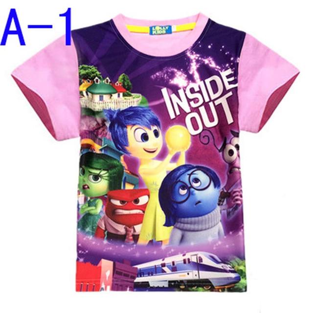 2016 New Boy T Shirts Inside Out Cartoon girls t shirts Children ...