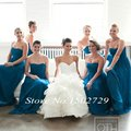 Fashion Long Chiffon Turquoise Bridesmaid Dresses under 90 Cheap Sweetheart Floor Length Bride Maid of Honor Dress for weddings