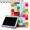 For Lenovo Tab 3 Tablet Cover 10.1 with Colorful Painted Stand Flip cover For Lenovo Tab3 10 Business X70F x70M TB3-70F TB3-70M