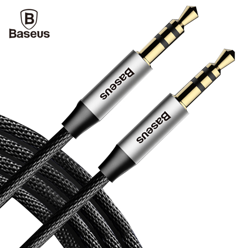 Baseus Aux Cable 3.5mm Jack Male to Male Audio Cable for Car Headphone Cloth Audio Cable for Computer Mobile Phone Beats Speaker baseus fluency series aux audio cable car cable connect with phone
