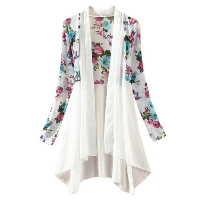 Long Chiffon Ladies Shirts 2017 Summer Women Kimono Vest Blusa Air Conditioning Sunscreen Female Blouses Jackets