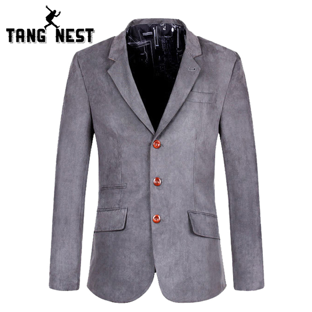 Fashion Men Blazer 2017 Hot Sale Men's Leisure Suits Single Breasted Button Fly Slim Casual Solid Suits Male MWX301
