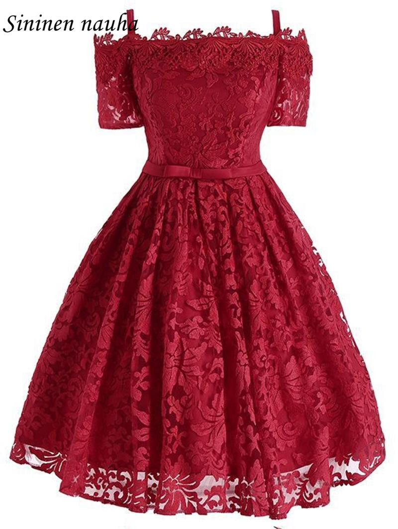 Short Lace Prom Dresses Party Homecoming Dress For Girls With