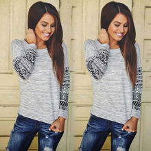 2016 Fashion Women Plus Long Sleeve Knitted T-Shirts Jumper Pullover Casual Loose Baggy Tops