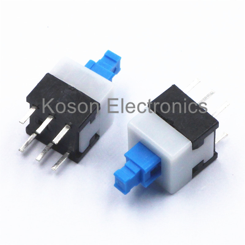 20pcs 6pin push tactile power micro switch self lock on off button latching switch 7x7mm 7 7mm. Black Bedroom Furniture Sets. Home Design Ideas