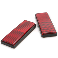 2pcs red plastic reflective warning plate tape stickers for car truck safety.jpg 200x200