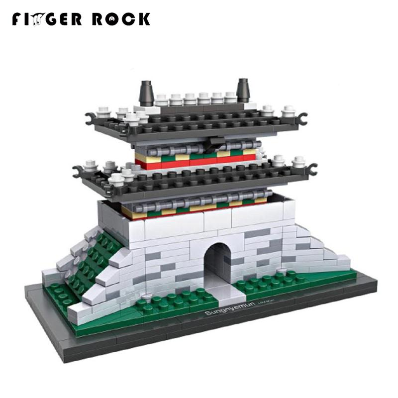 Finger Rock Building Blocks Toys Famous Korean Classic Architecture Sungnyemun 325PCS Bricks Assembled Model Gift For Children In Kits From
