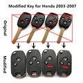 Atualizado chave do carro remoto 313.8/315/433 mhz para honda fit cidade odyssey civic accord crv cr-v ano 2003-2007
