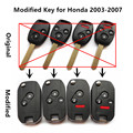 Upgraded Remote Car Key 313.8/315/433MHz for Honda Fit City Odyssey Civic Accord CRV CR-V Year 2003-2007