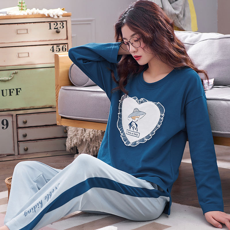 Women Clothes for Autumn winter Pajamas Sets O-Neck Sleepwear Lovely Rabbit Pijamas Mujer Long Sleeve Cotton Sexy Pyjamas Female 84