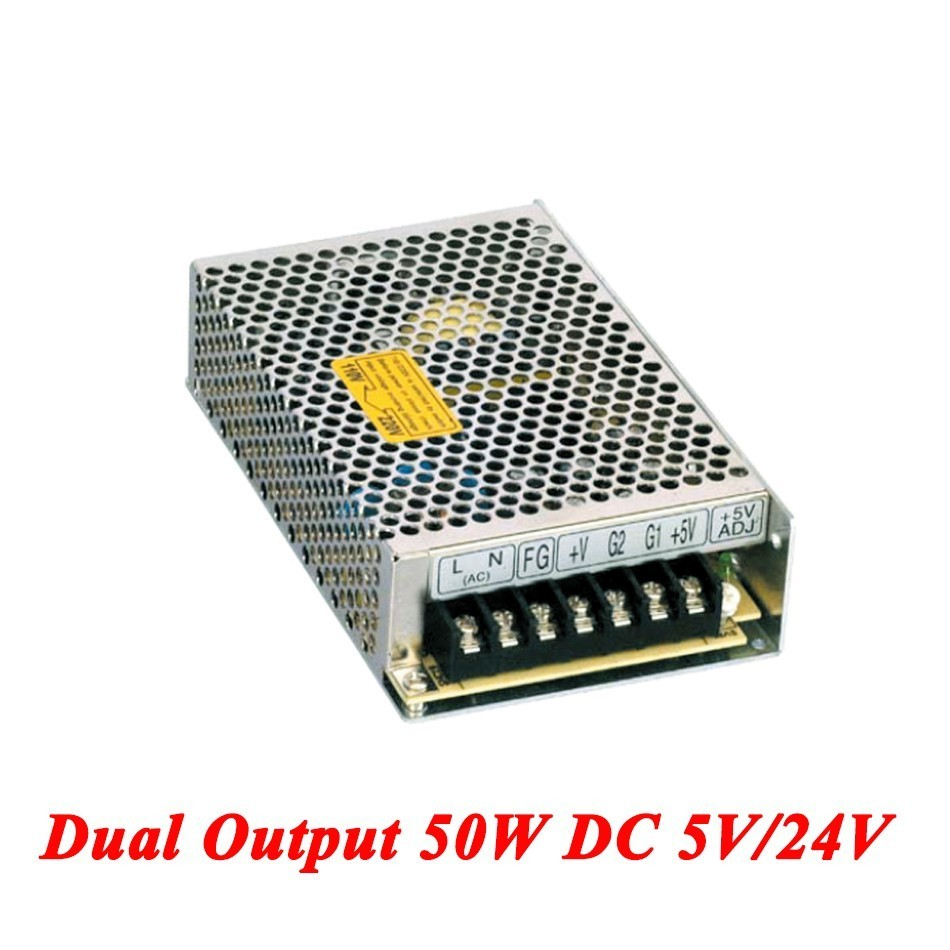 D-50B Switching Power Supply 50W 5V/24V,Dual Output Ac-dc Power Supply For Led Strip,voltage Converter 110v/220v To 5V/24V cms