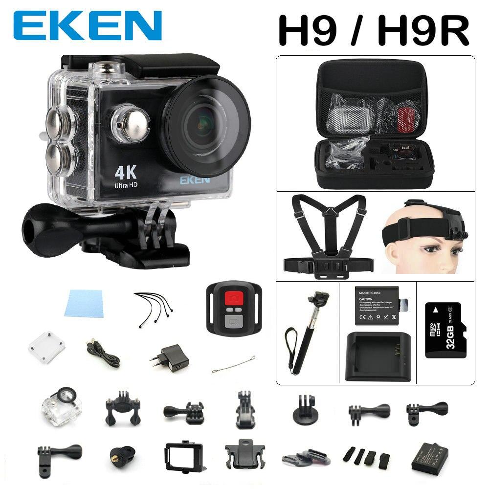 Action camera Original EKEN H9-H9R remote Ultra FHD 4K WiFi 1080P 60fps 2.0 LCD 170D sport go waterp