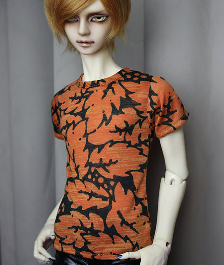1/4 1/3 SD17 uncle BJD SD Doll accessories Bjd clothes dark orange  T-shirt fashion three piece suit for bjd 1 3 1 4 sd17 uncle doll clothes accessories