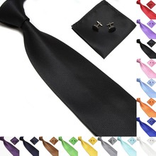 Top 20 Colors Casual Mens Ties 2018 Silk Jacquard Woven Pink For Men Wedding Business Party Cufflinks Neck Tie Set New
