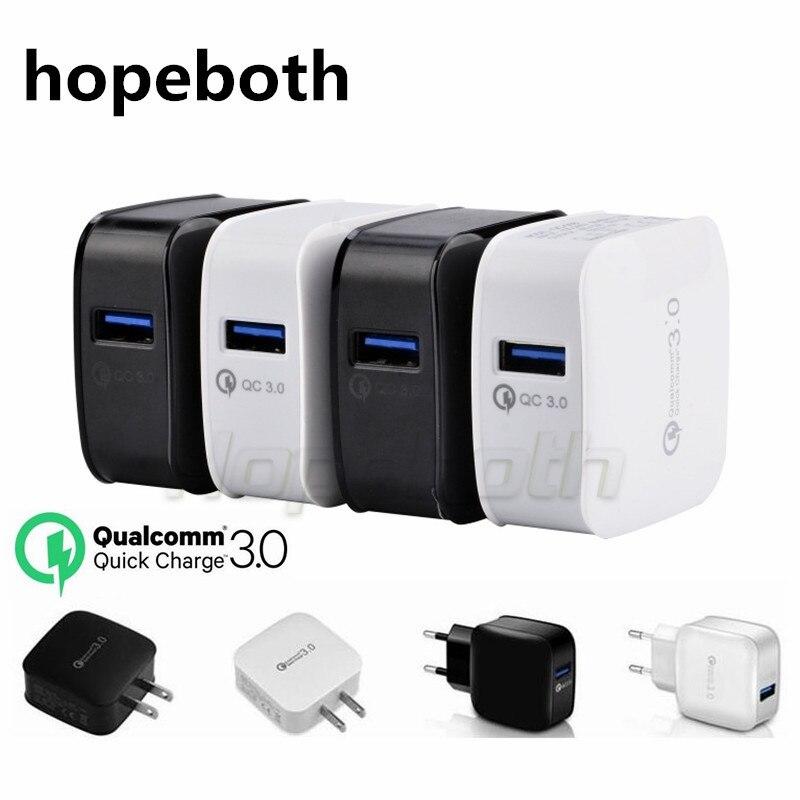 Hopeboth быстрого QC 3.0 зарядки быстрого адаптивной зарядки ЕС США зарядное устройство для iPhone 7 8 Samsung S6 S7 s8 телефона Android