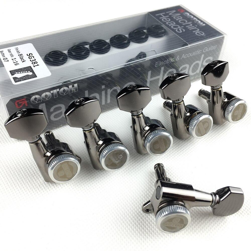 Original GOTOH SG381-07-MGT guitare électrique verrouillage têtes de Machine accordeurs (Chrome noir or argent) Tuning Peg fabriqué au japon - 5