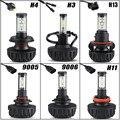 60w/pair H4 H13 Hi-lo Beam 6000lm LED Headlight Bulb H3 H11 9005 9006 6500K LED Bulb for Lada Granta Hyundai Solaris Kia Rio 12V