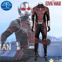 MANLUYUNXIAO High Quality Captain America Civil War Ant Man Costume Halloween Costumes For Men Superhero Ant man Cosplay Costume