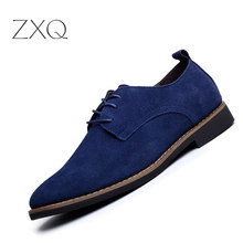 Brand Italy Shoes Man Flats Shoes Fashion Nubuck Leather Anti Slip Lace-Up Oxford Moccasins Plus Size Mne Shoes(China)