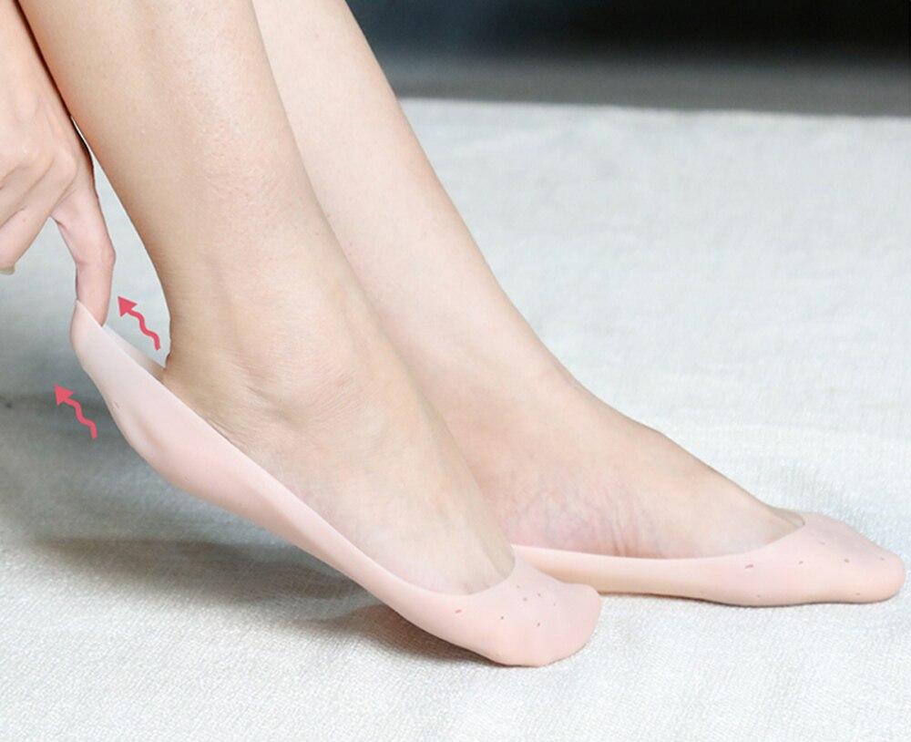 Демин силиконовые Увлажняющие гелевые пятки носки трещины ног колодки ноги Массажер ноги облегчение боли силиконовые носки вкладыши