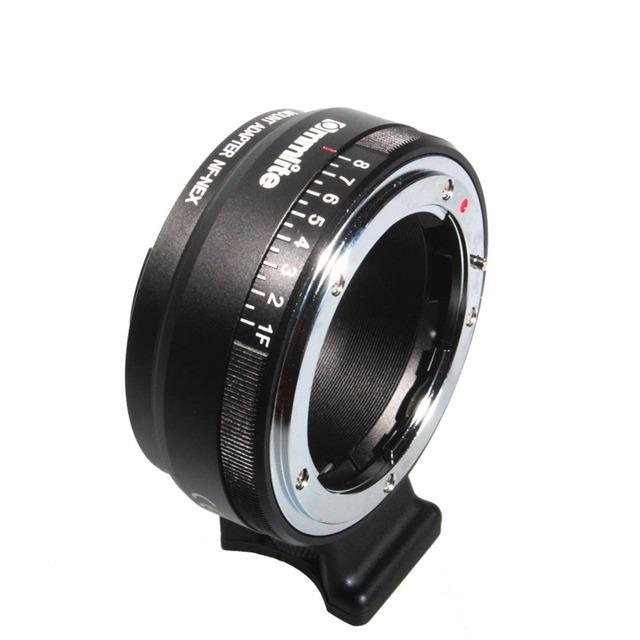 Más reciente Auto Focus de montaje adaptador EF-NEX para Nikon g, dx,f ai,s tipo D lente a Sony tipo e de la cámara NEX