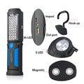 Carregamento USB 36 + 5 Lanterna LED Trabalho light Lâmpada com GANCHO Magnético para Carregador de Energia Móvel