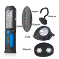 USB Charging 36+5 LED Flashlight Work light Magnetic Lamp with HOOK for Mobile Power Charger