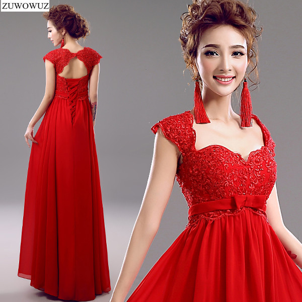 2017 new arrival stock maternity plus size bridal gown pregnant   evening     dress   lace long red high waist tank sexy backless 3398