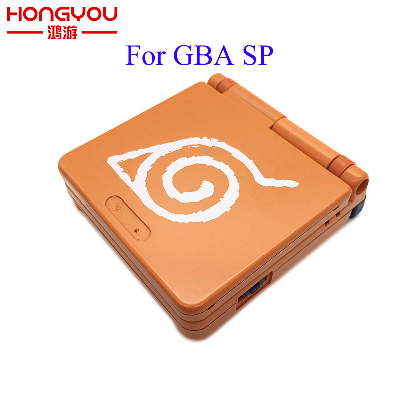 For Nintendo Retro Naruto GBA SP Shell For Game Boy Advance SP Replacement Housing Case