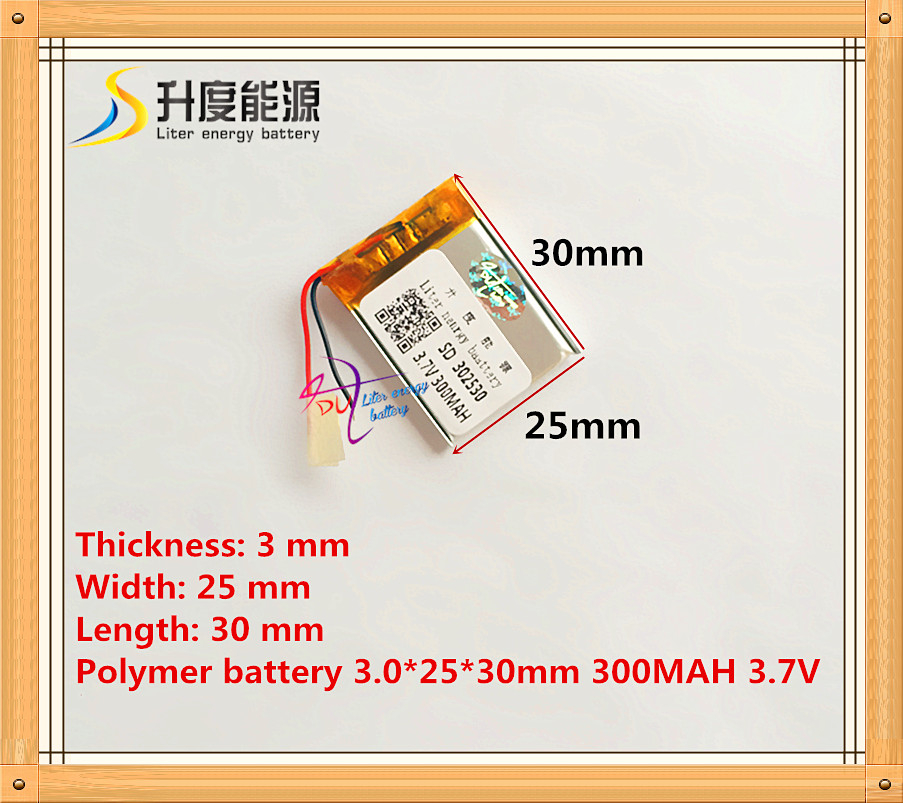 Size 302530 3.7V 300mah Lithium polymer Battery with Protection Board For MP4 Digital Products Free Shipping стоимость