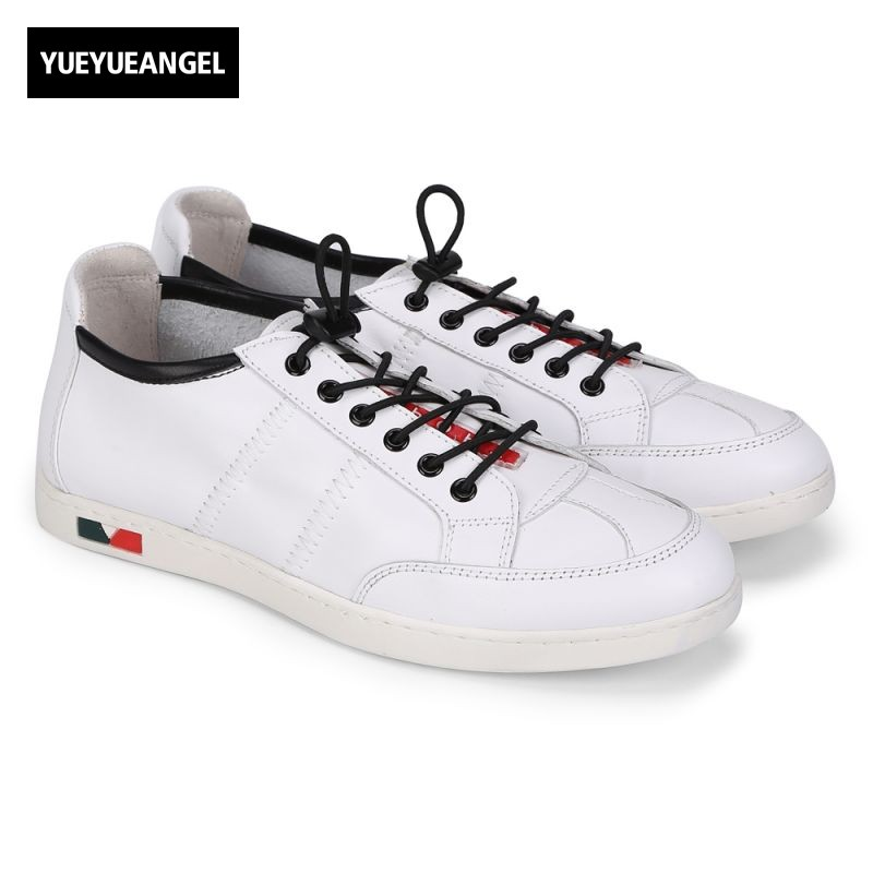 Sapatenis Masculinos Casual Mens Genuine Leather New Fashion Male Footwear Lace Up Round Toe Korean Style Shoes Top Quality white casual shoes man genuine leather male footwear lace up round toe new arrival fashion british lacets chaussures top quality
