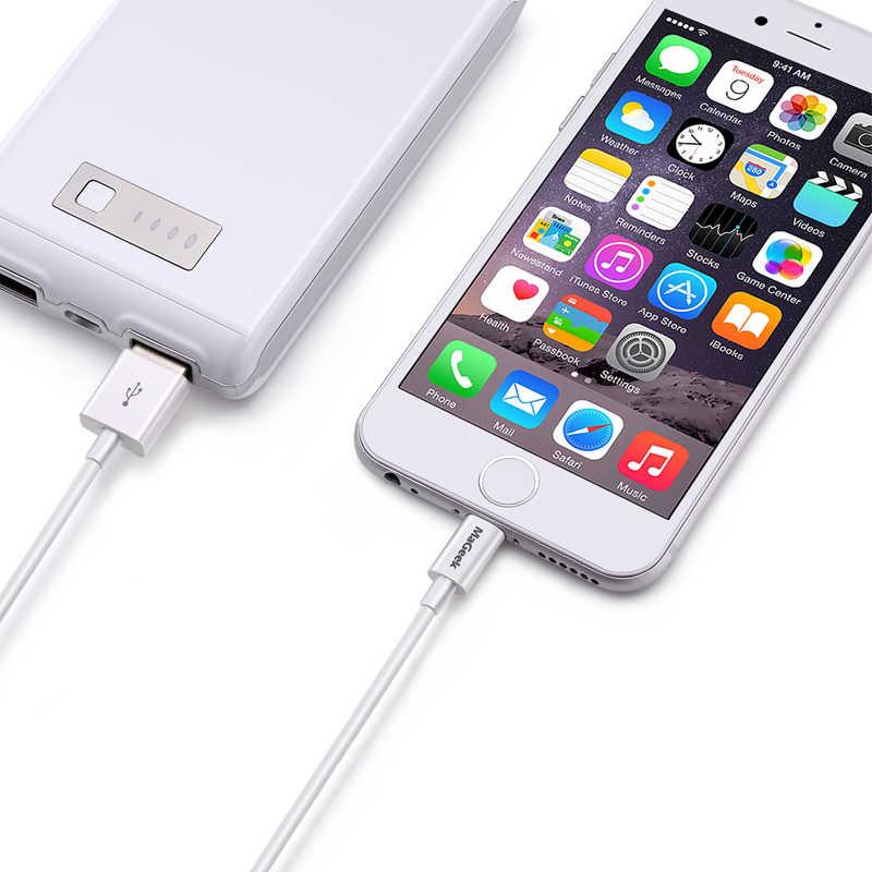 MaGeek 1 m 1.8 m 3 m MFi Certified Relâmpago para Cabo USB Cabos de Telefone Móvel para o iphone Xs Max X 8 7 6 5 Ar iPad iOS 12 11