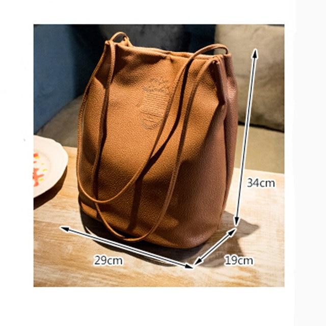 2016 New Fashion Bucket Bag Tassel Women Messenger Bag Big Women Shopping Bag Vintage Women Bag