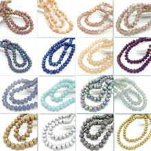 New Scrub Colors Rondelle Faceted Crystal Glass Loose Beads Jewelry Making 10mm8mm6mm4mm