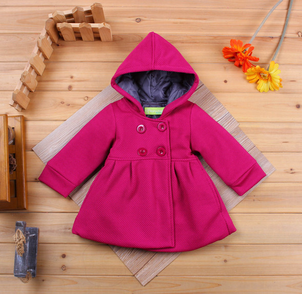 High quality fashion baby girls coats Autumn and winter girl's warm jackets Thick Kids Hooded Outerwear clothing|baby coat|warm autumn jacket|winter baby coat - title=