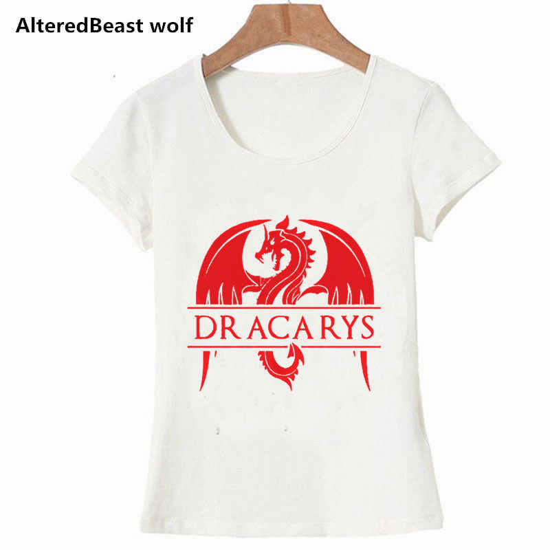c008b703 ... Women Dracarys T-Shirt Vintage Style T Shirt for Female Mother of Dragon  Tops Tee ...