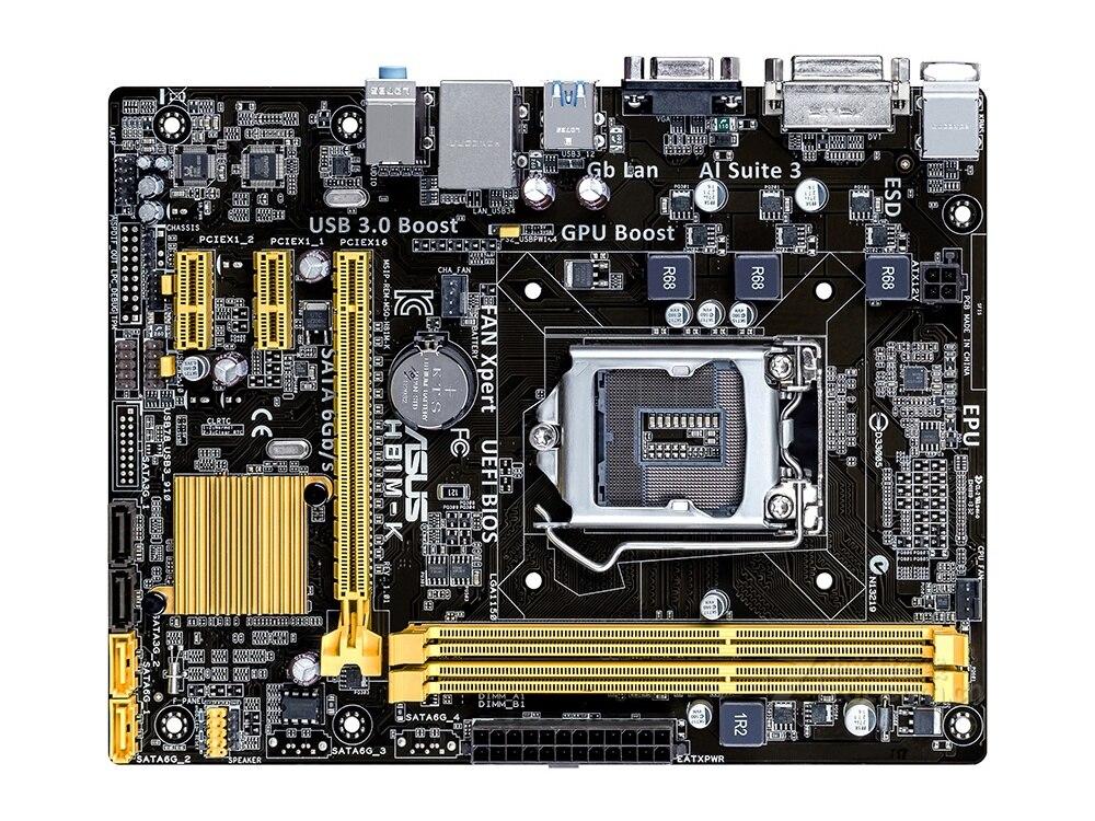 все цены на Free shipping original motherboard for ASUS H81M-K DDR3 LGA 1150 for I3 I5 I7 CPU USB2.0 USB3.0 16GB H81 Desktop motherborad