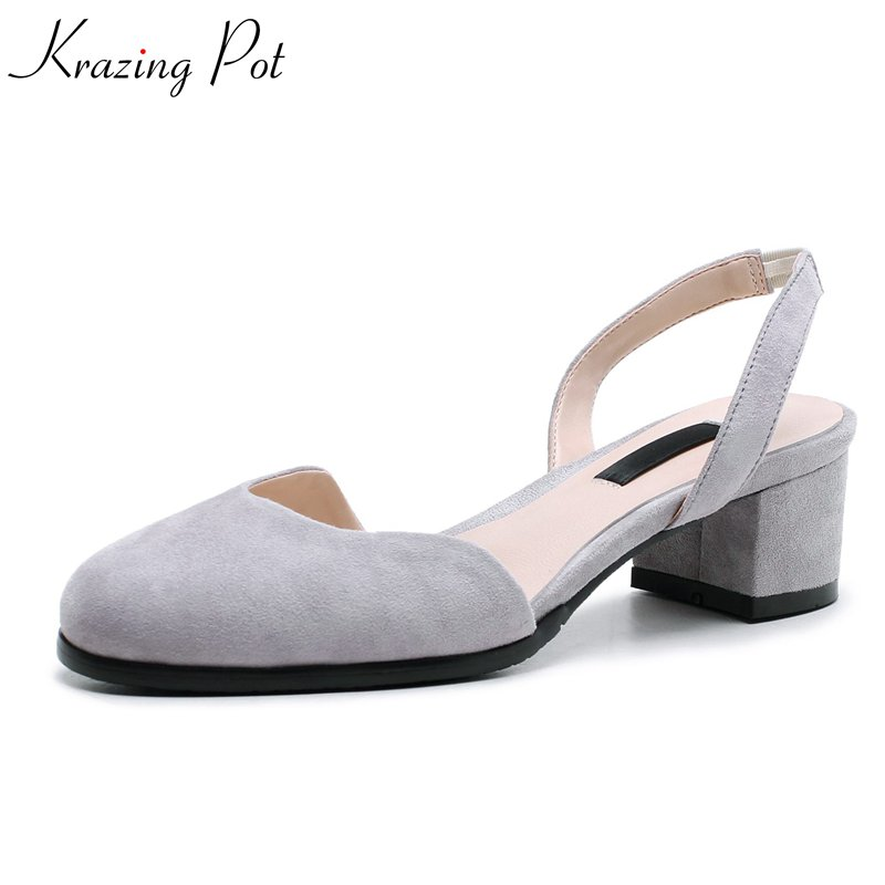 Karzing pot kid suede shoes women fashion brand shoes round toe slip on med heels elastic princess simple style women pumps L02 2017 hot sale fashion style classic women pumps leisure round toe slip on med heels mature office lady easy walking hot shoes