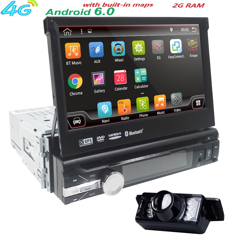 7 universal 1din android 6 0 quad core car dvd player gps. Black Bedroom Furniture Sets. Home Design Ideas