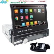 "7 ""Universal 1din Android 6.0 Cuádruple Núcleo reproductor de DVD Del Coche de Navegación GPS Wifi BT autoRadio 2 GB RAM 16 GB ROM 4G SWC RDS OBD2 DAB CD"