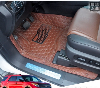 one ford piece all rear floor black thermoplastic ca explorer weather mats rubber row vinyl full