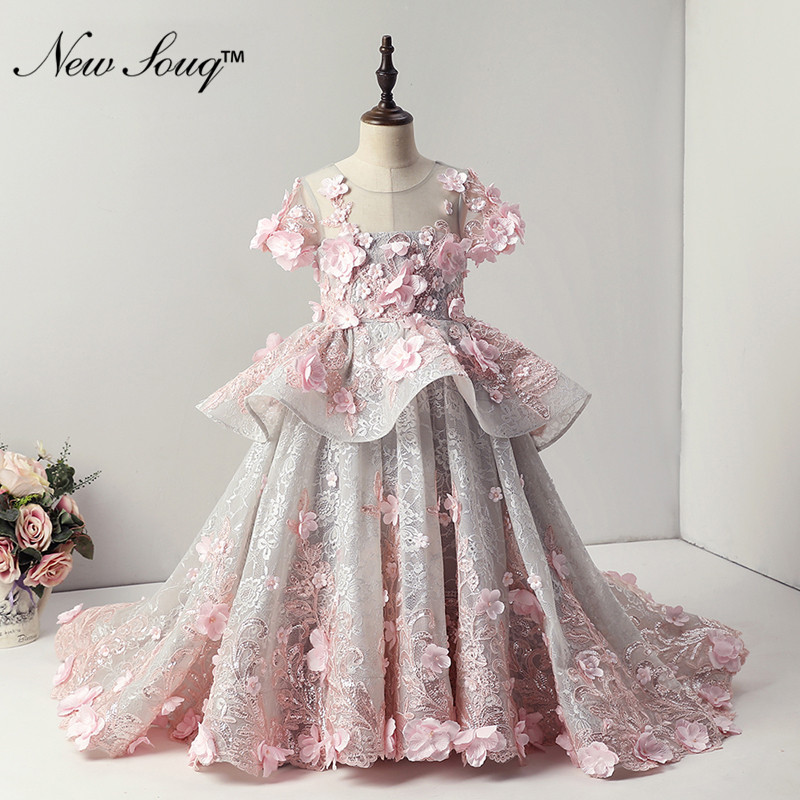2019 Hot Sale Pink   Flower     Girl     Dresses   Primera Comunion First Communion   Dresses   For   Girls   Beautiful Pageant   Dresses   For   Girls