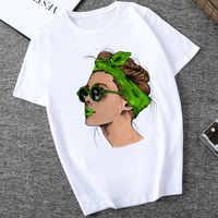 Été 2019 Harajuku mode Cool imprimer femme t-shirt loisirs Streetwear esthétique t-shirt tendance mince Section chemise confortable
