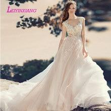 leiyinxiang Bride Dress Wedding Dress A-line Sleeveless