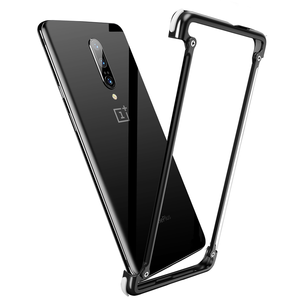 OATSBASF Original Airbag Metal Case for Oneplus 7 Case Personality Airbag Shell Metal Bumper Cover for Oneplus 7 pro