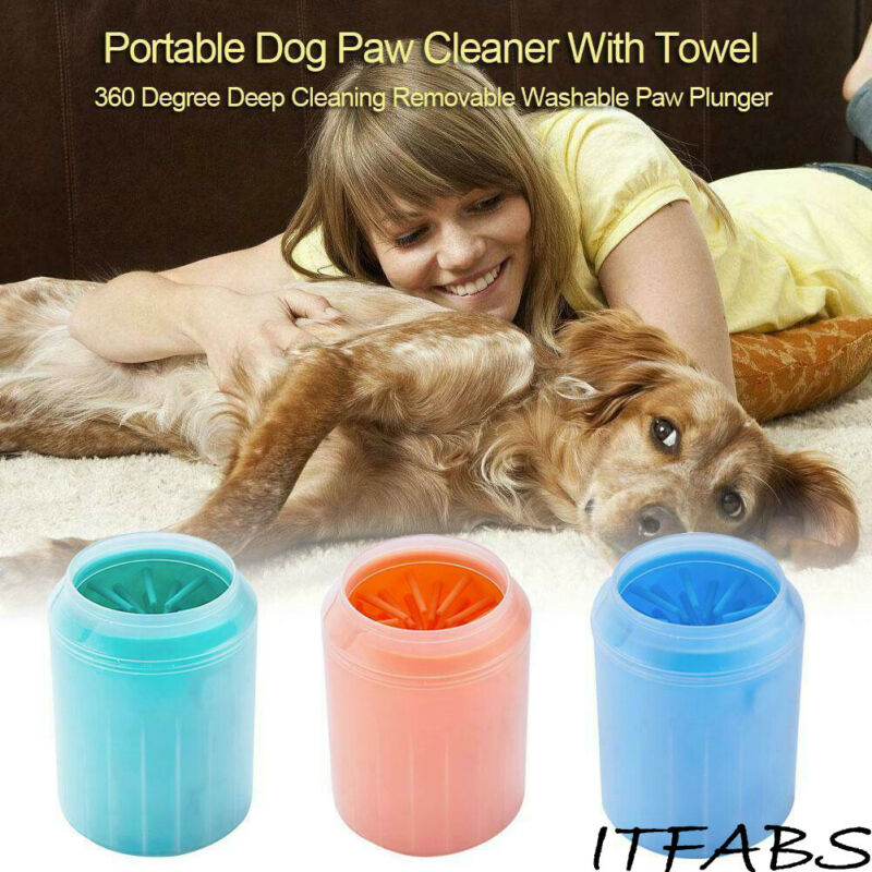 2019 New Portable Cup Cats Dog Foot Cleaner Feet Washer Brushes Dog Paw Pet Cleaning Brush Pet Foot Clean Cup Pet Accessories