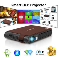 Smart Pocket Mini DLP Projector 3D Home Theater Android Wifi Bluetooth Full HD Video Projeksiyon Beamer For Smartphone Laptop TV