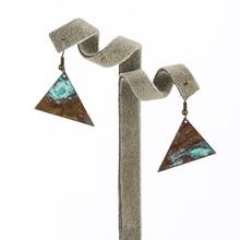 Bohemian Earrings Jewelry Retro Patina Geometric Triangle Drop for Women Earring