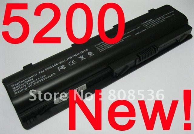 20PC up 90% Discount / Good Quality, 10.8v 5200mah Laptop battery for HP Pavilion g4 g6 g7 Black Akku ,+Free Shiping